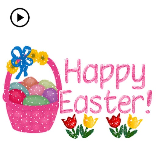 Animated Happy Easter Sticker