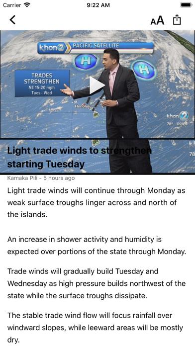 KHON2 WX - Radar & Forecasts screenshot three