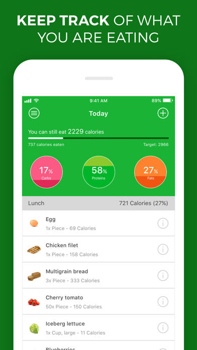 Calorie, Carb & Fat Counter screenshot one