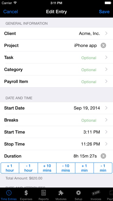 Screenshot for Time Master + Billing in Netherlands App Store