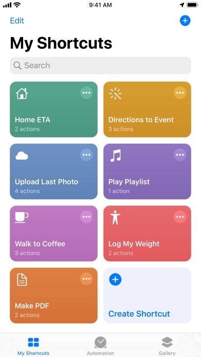 Shortcuts Screenshot