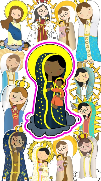 Virgin Mary Stickers