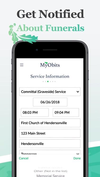 MyObits: Obituary Listings screenshot-3