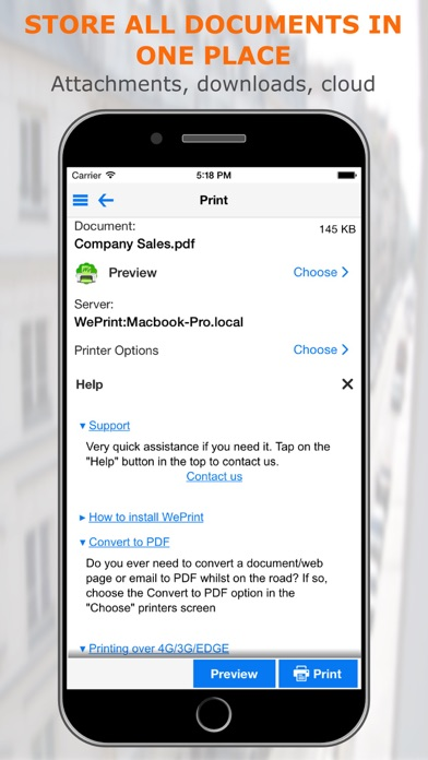 PrintCentral Pro for iPhone Screenshots