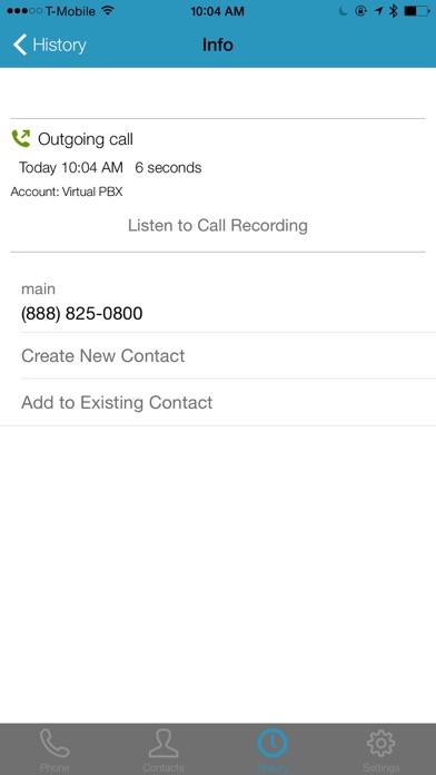 VirtualPBX SoftphoneScreenshot of 5