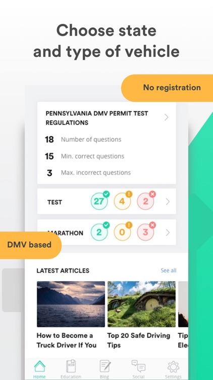 DMV Driving Test Driver Start screenshot-0