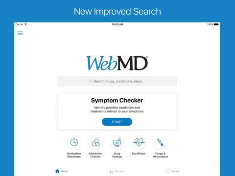 WebMD: Symptoms, Doctors, & Rx - náhled
