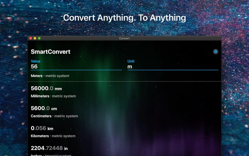 SmartConvert – Unit Converter for Mac