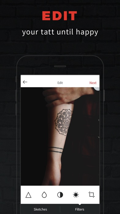 INKHUNTER PRO Tattoos try on iphone картинки