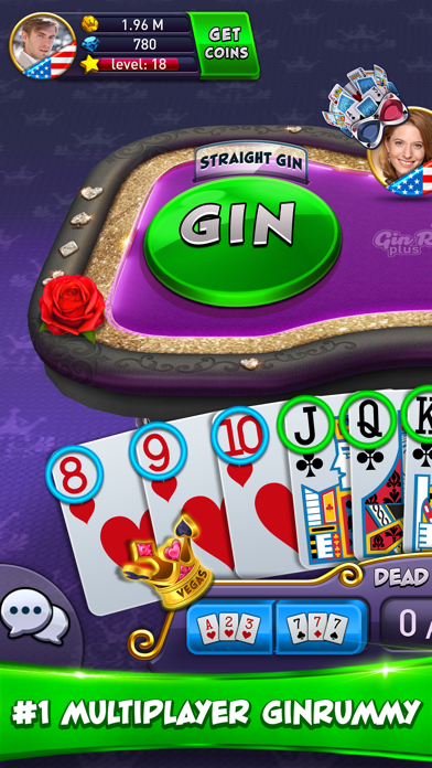 Gin Rummy Plus - Card Game Screenshot