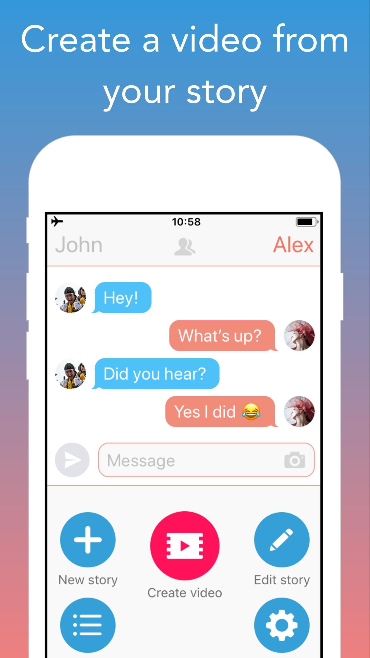 TextingStory Chat Story Maker Screenshot