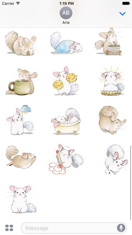 Adorable Chinchilla Sticker screenshot-3