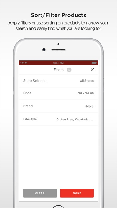 H-E-B Screenshot on iOS