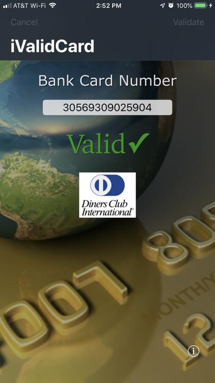 iValidCard