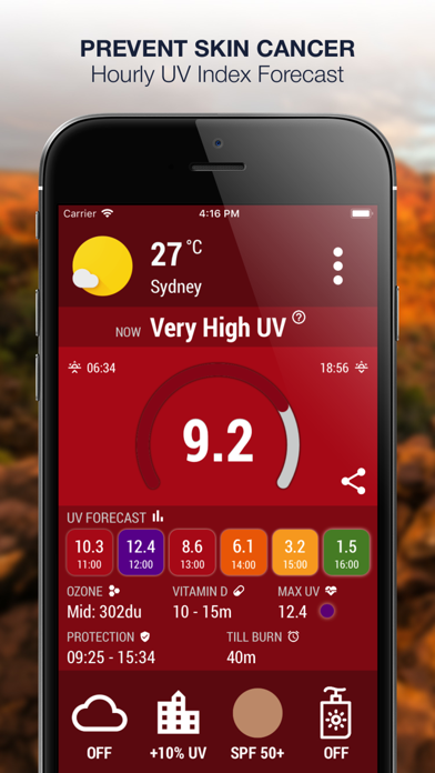 Screenshot #2 pour UV Index Now - UVI Mate