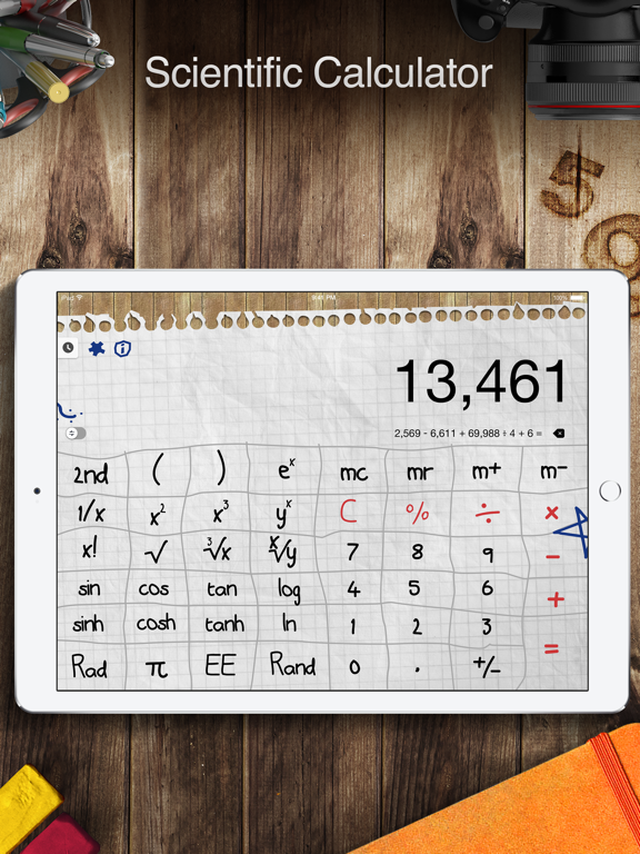 Calculator Pro for iPad - Standard and Scientific screenshot