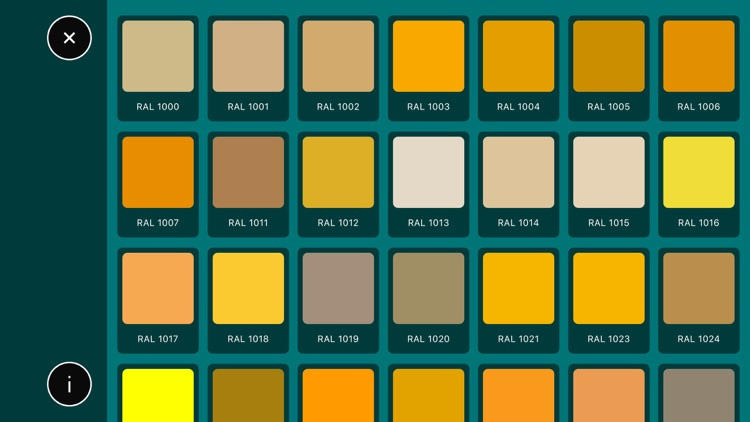 RAL color palette. Wall paint