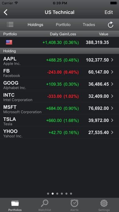 Screenshot for Portfolio Trader-Stock Tracker in United States App Store