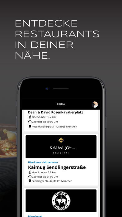 Screenshot for ORDA in Germany App Store
