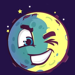 Moon stickers for iMessage