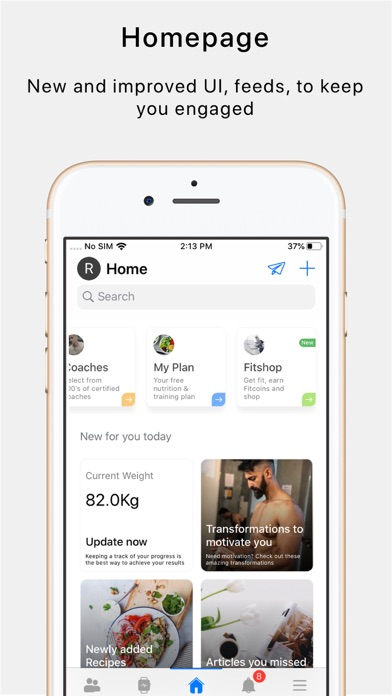 Fittr- Fitness & Nutrition screenshot one