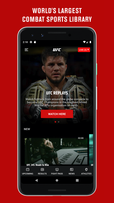 Screenshot for UFC ® in United States App Store