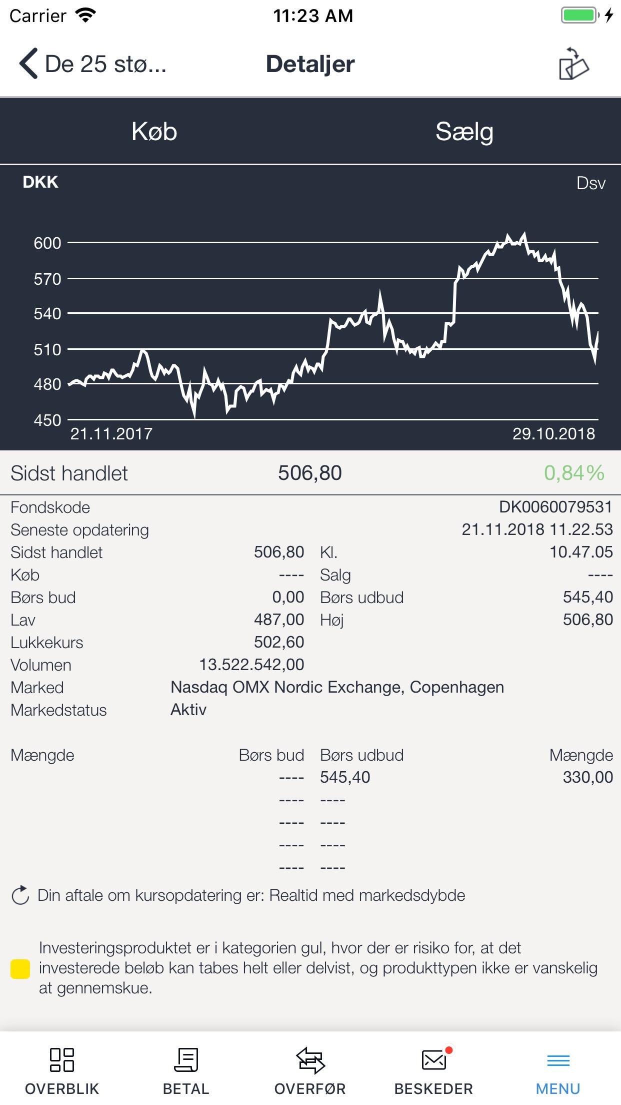 Møns Bank Screenshot