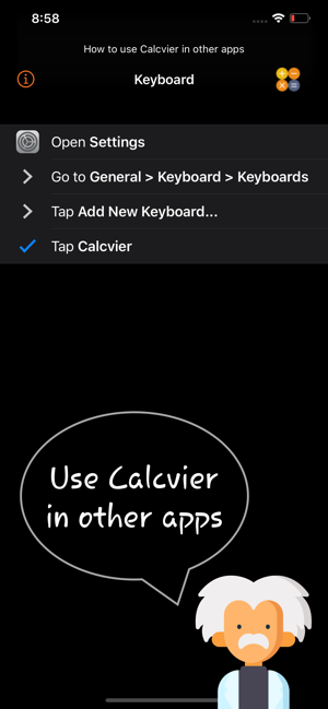 ‎Calcvier - Keyboard Calculator Screenshot
