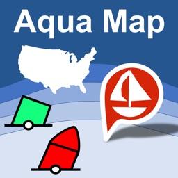 Aqua Map US - Marine & Lakes