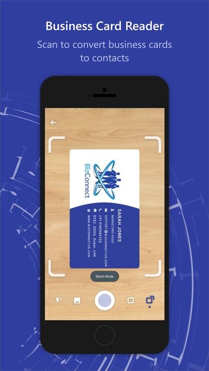 Business Card Scan -BizConnect
