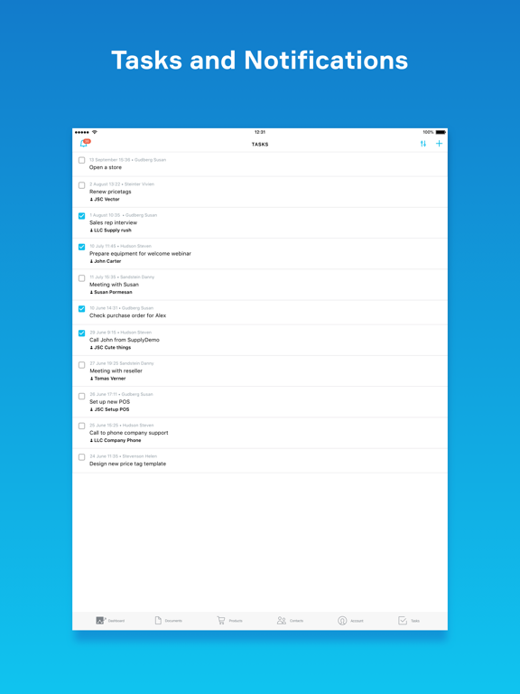 MyStore, Inventory management screenshot