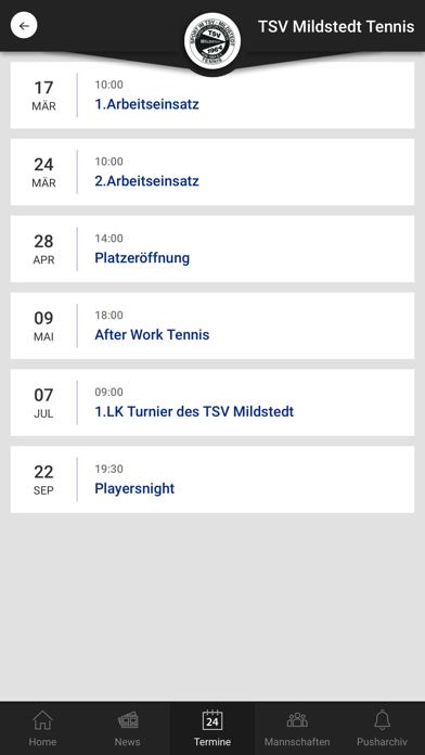 TSV Mildstedt TennisScreenshot von 3