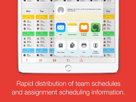 Dienstag - schedule your team screenshot