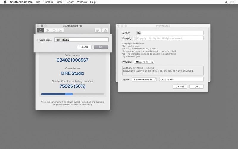 ShutterCount Pro Screenshot
