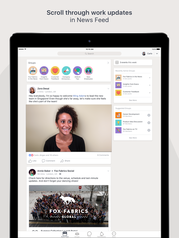 Workplace by Facebook-ipad-0