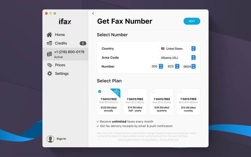 iFax: Send Fax & Receive Faxes Screenshot