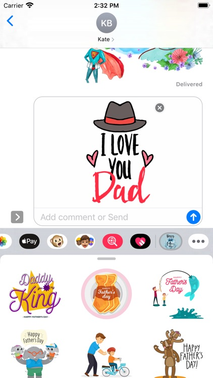 My Dear Father's Day Stickers