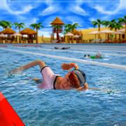真正的游泳池:水上比赛