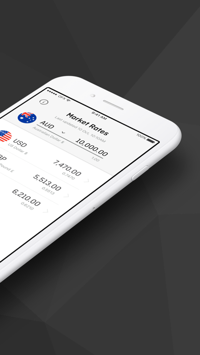 OFX Money Transfer screenshot