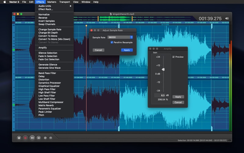 Vector 3 - Record & Edit Audio Screenshot 4
