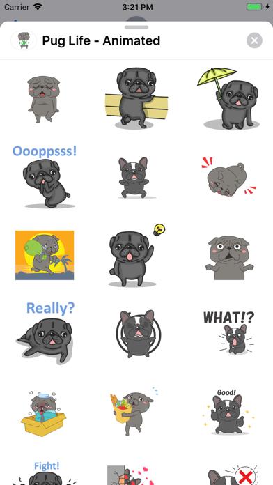 Pug Life - Animated screenshot 1