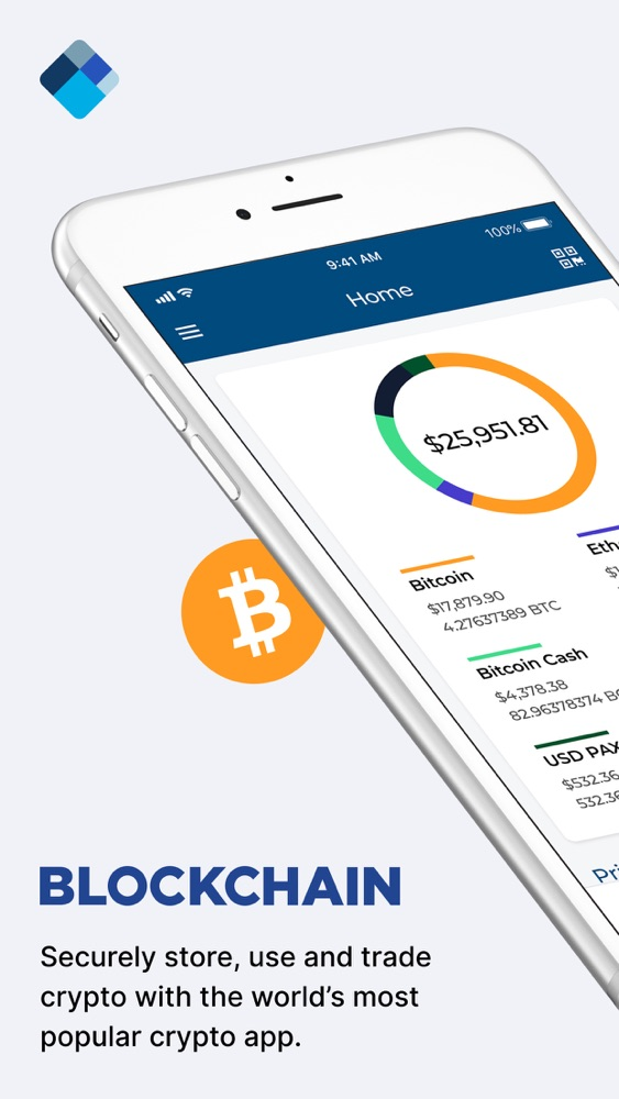 Blockchain Wallet: Bitcoin App for iPhone - Free Download