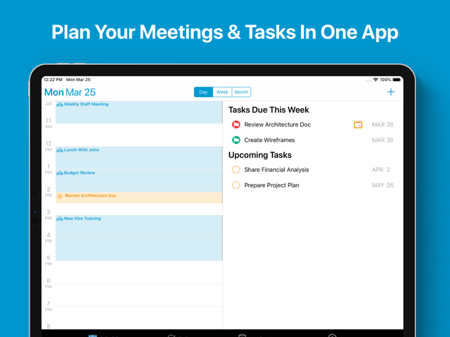 Re:Schedule Calendar for iPad is a Better Way to Run Team Meetings Image