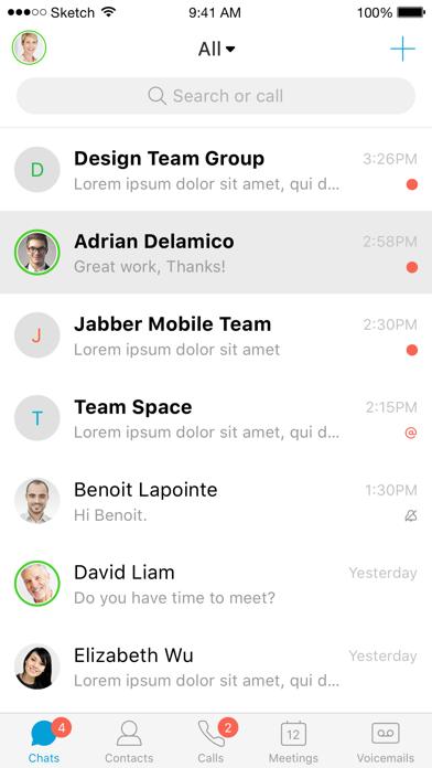 Screenshot for Cisco Jabber in Austria App Store