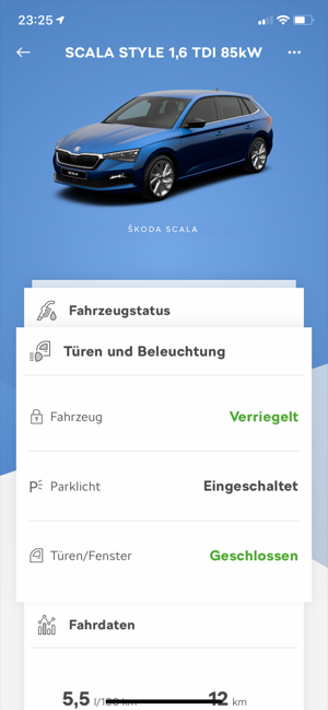 ‎ŠKODA Connect Screenshot