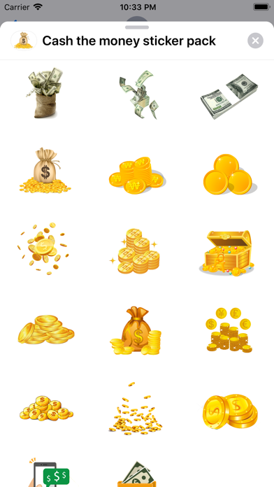 Screenshot #2 pour Cash the money sticker pack