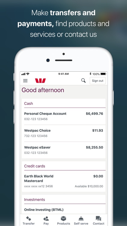 Westpac Mobile Banking screenshot-1