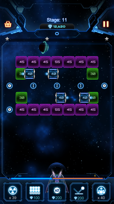 Bricks Breaker Galaxy Shooter screenshot 1