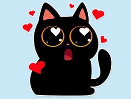 Black cat stickers - Funny emo