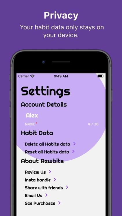 Rewbits: Habit Tracker screenshot-5